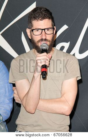 LOS ANGELES - JUN 18:  Brad Delson at the Linkin Park Rockwalk Inducting Ceremony at the Guitar Center on June 18, 2014 in Los Angeles, CA