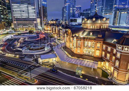Tokyo, Japan at Tokyo Station.