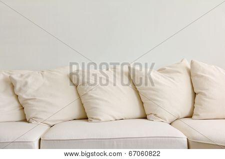 Soft cushion in sofa
