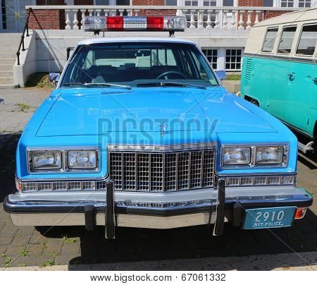 Vintage NYPD Plymouth police car