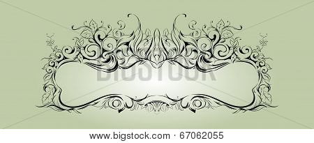 Vector frame with floral elements for registration 2