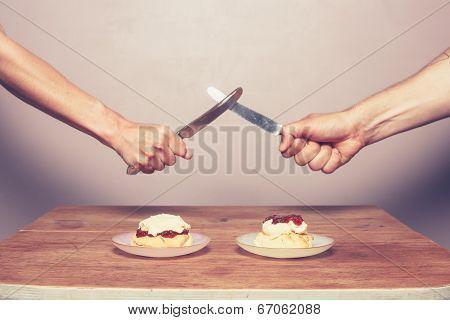 Fighting Over Cream Tea