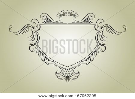 Vector frame with floral elements for registration