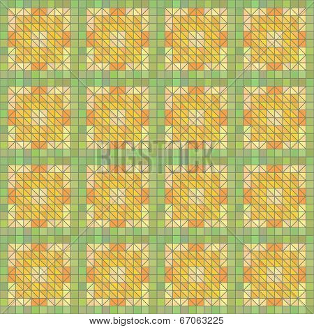 Seamless Yellow Geometric Texture