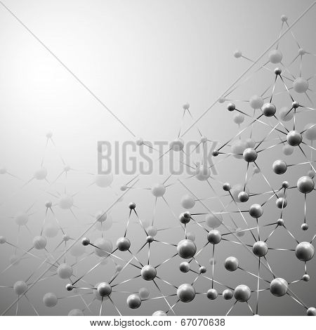 Abstract background, molecule structure vector illustration