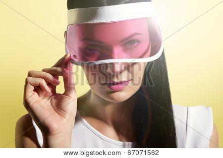 Woman In A Sun Visor