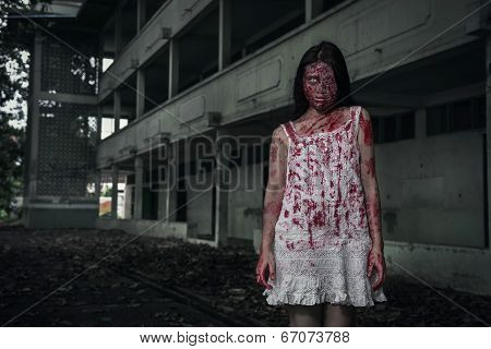 Suicidal Girl In Haunted School