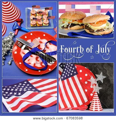 Happy Fourth of July, Independance Day collage