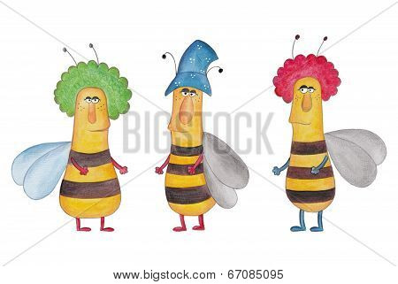 Bee. Cartoon characters