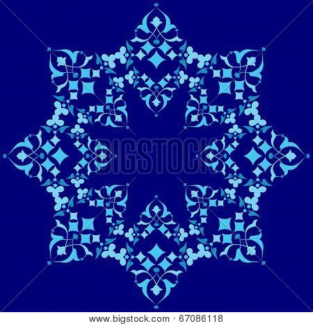 Ottoman Motifs Blue Design Series Of Fifty Five