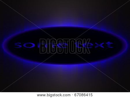 Dark Blue Glowing Background .