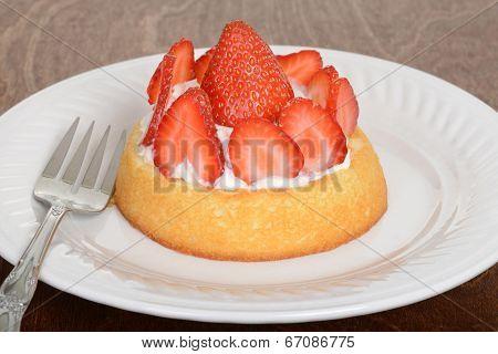 macro strawberry shortcake