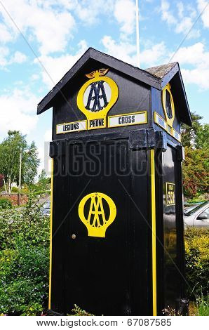 Old Automobile Association phone box.