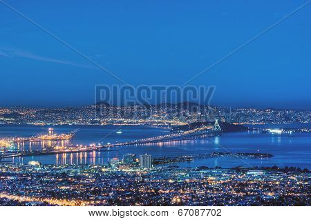 San Francisco Bay In Pre-dawn Blue