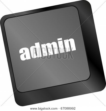 Admin Button On A Computer Keyboard Keys