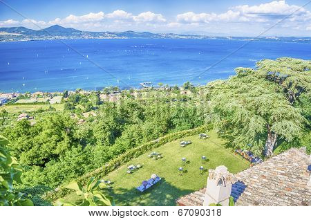 Bracciano Lake View From Odescalchi Castle