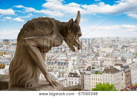 Gargoyle on Notre Dame Cathedral, France