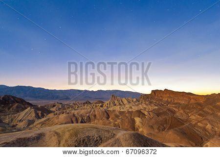 Desert Sunset, Zabriskie Point, California