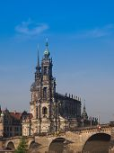 stock photo of trinity  - Dresden Cathedral of the Holy Trinity aka Hofkirche Kathedrale Sanctissimae Trinitatis in Dresden Germany - JPG