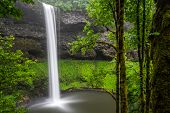 pic of waterfalls  - South Falls at Silver Falls State Park in Oregon - JPG