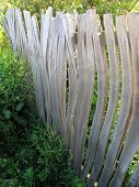 pic of stockade  - Abstract fencing photographed at Torcross in Devon - JPG