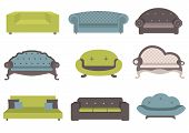 picture of settee  - Sets of colorful sofa - JPG