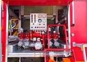 foto of fire truck  - Technical components and assemblies within the a fire truck - JPG