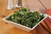 foto of kale  - Kale salad with cashews tamari and sesame seeds - JPG