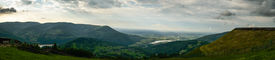 pic of zar  - Panorama photo of  Beskid mountains with Sola river   - JPG