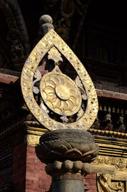 picture of dharma  - Architectural detail of buddhist monastery  - JPG