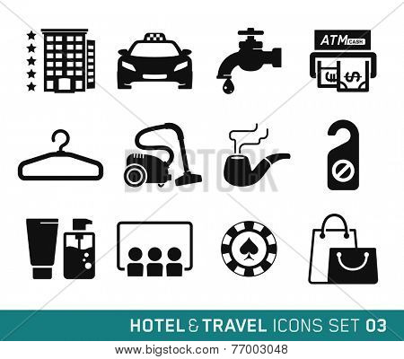 Hotel & Travel icons set // 03