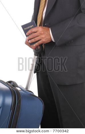 Business Traveler With Passport