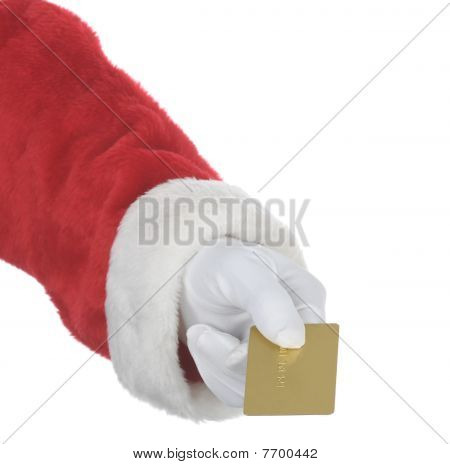 Santa Handing Gold Card