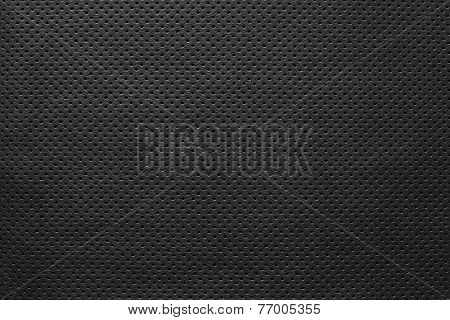 Texture Leather Of Black Color With Outer Side