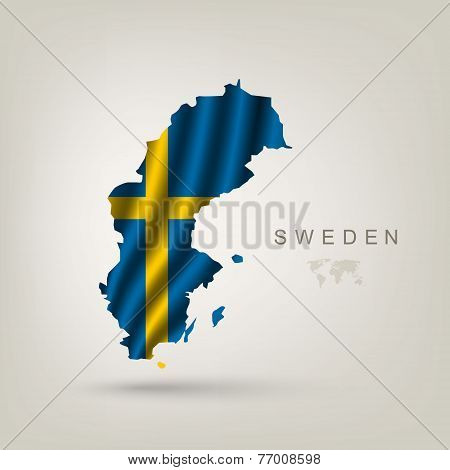 Swedish flag as a country
