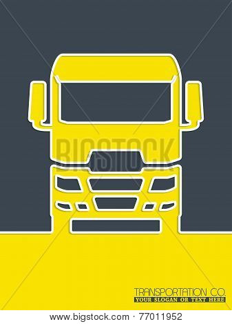 Transportation Brochure Design With Truck