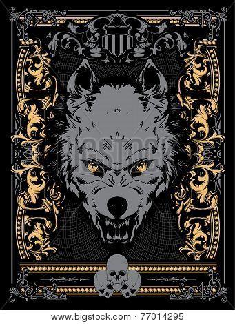 Evil wolf vector