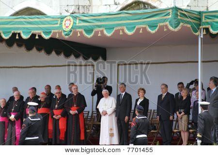 Pope Benedict XVI And President Cavaco Silva