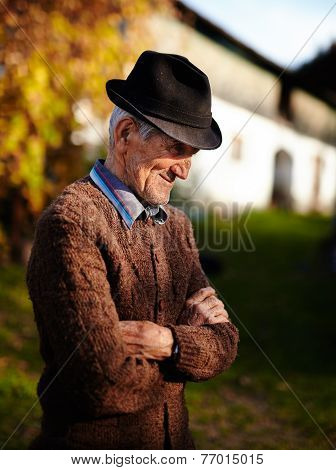 Old Romanian Farmer