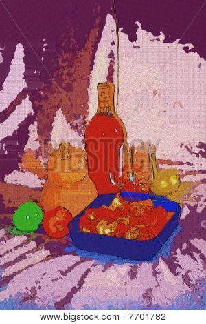 Stock Illustration Of Abstract Still Life