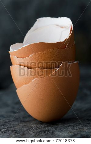 Stack Of Eggshells