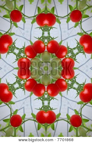 Stock Image Of Tomatoes Kaleidoscope