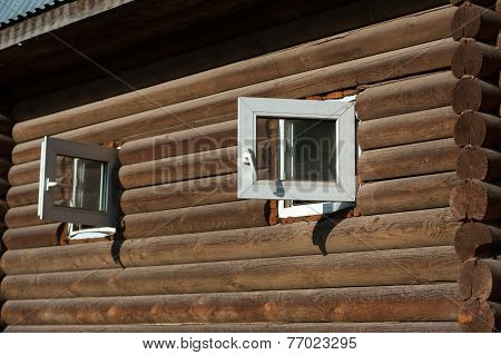 Windows On Wooden House