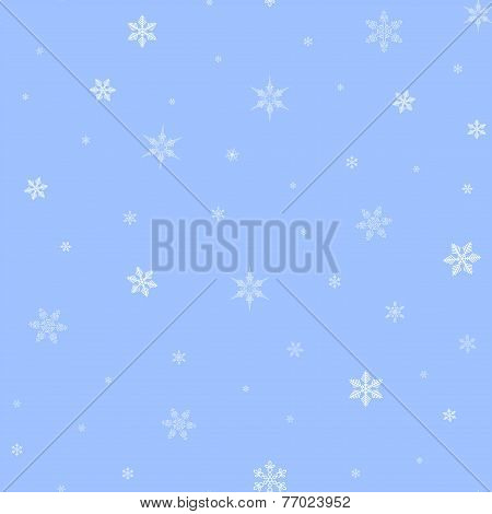 Christmas Background Pattern With Snowflakes In Vector
