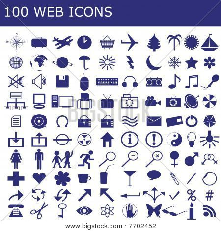 100  Icons  For Web Applications