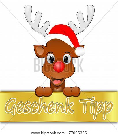 Christmas offer with reindeer - in german