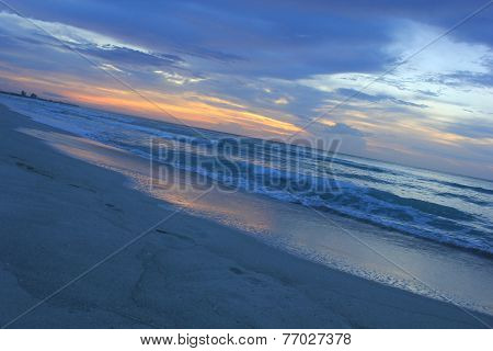 Cuban Beach at sunset