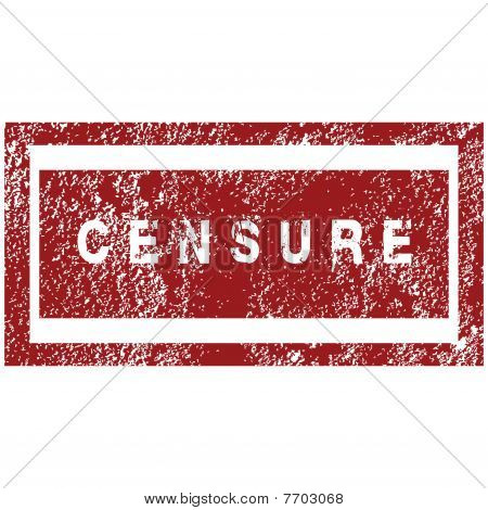 Red Rubber Stamp With Thw Word Censure