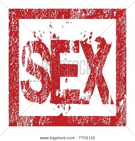 Rubber Red Stamp With Sex