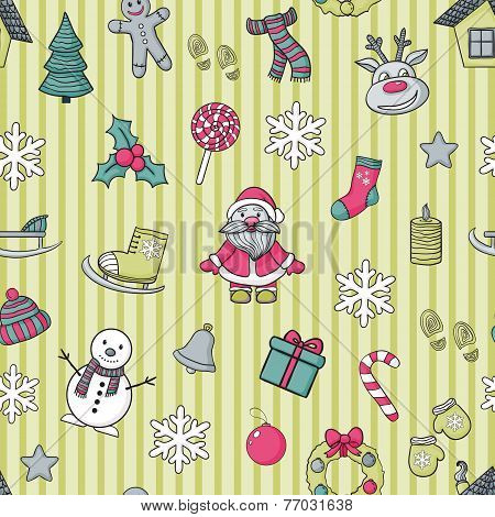 Vector  Happy New Year and Merry Christmas pattern